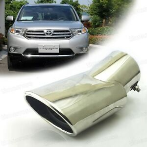 1x Curved Exhaust Muffler Tail Pipe Tip Tailpipe fit for Toyota Highlander