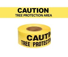 "8 rolls CAUTION TREE PROTECTION AREA 3"" X 300' Yellow & Black Barricade Tape"