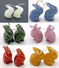 "LOT 12 BUNNY RABBIT FIGURE CANDLE 2-1/2"" UNSCENTED DIFFERENT COLORS CANDLES"