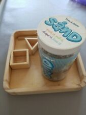 BrookStone sand bundle With Sand 3/4 full tray and blocks
