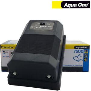 Aqua One Precision 7500 Twin Outlet Air Pump Aquarium Water Fish Tank Oxygen