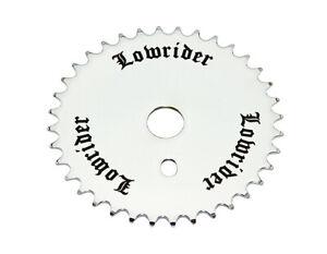"Bicycle ChainRing Sprocket 36T ""Lowrider"" Logo 1/8"" x 36T Cruiser BMX Bikes"