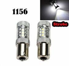 Strobe Reverse Backup 1156 BA15S 7506 3497 1141 P21W 80W White LED M1 Euro R2