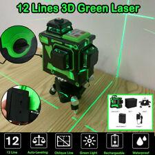 360° 3D 12 Line Green Laser Level Auto Self Leveling Horizontal Vertical Measure