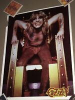 OZZY OSBOURNE VINTAGE POSTER 1983 - VINTAGE OZZY TOUR POSTER - VINTAGE OZZY RARE