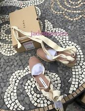 Zara Pink Wedges 4 37 Tie Up New Shoes BNWT