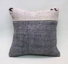 "Hemp Square Pillow, 16""x16"", Patchwork Pillow, Throw Pillow, Accent Pillow"
