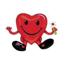 Party Supplies Love Valentines Day Smiling Sitting Heart Guy Foil Shape