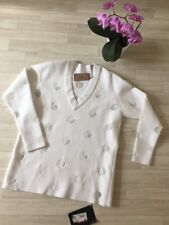 azzedine alaia Jumper White Alaia Pullover Oversized Lace Panelled FR38 UK10 NEW