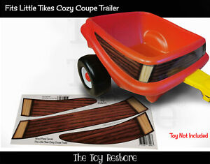 The Toy Restore Replacement Stickers Fits Little Tikes Cozy Coupe Trailer Wood