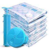 Vacuum Storage Bags Space Saving Clothes Home Travel Compressed Bag + Pump 10Pcs
