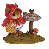Wee Forest Folk Miniature Figurine M-582 - Reluctant Red Riding Hood