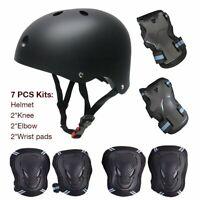 6pc Knieschutz Ellbogenschützer Safety Fahrrad Helm Skateboard Schutz Pad Set