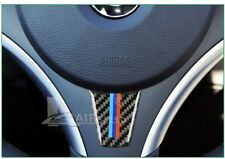 BMW A1 E90 E92 3 Series Interior Carbon Fibre Steering Wheel Stickers M Sport