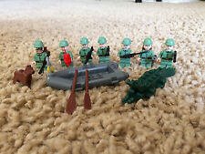 7 Lego Russian Custom Guns Army Soldiers Minifigures WW 2 Boat Dog Jones Lot 2