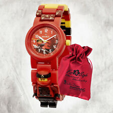 Lego Uhr Ninjago Kai 8021414 Kinder analog Armbanduhr mit Säckchen Ule8021414