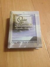 MARETHA MAARTENS. QUIET MOMENTS. ONE MINUTE DEVOTIONS. MINI HARDCOVER.