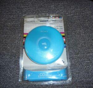 Sony CD Walkman Portable CD Player D-EJ001 Blue NEW in Package