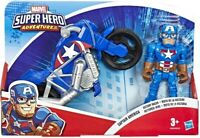 Captain America Super Hero Adventures Figure and Motorcycle - BNISB