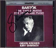 Gidon KREMER Signed BARTOK Violin Sonata No.1 & 2 Iury SMIRNOV CD Violinsonaten