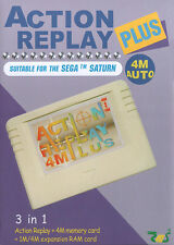 # sega saturn-action replay (4mb Memory + ram + adaptateur d'importation) - ARTICLE NEUF #
