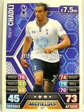 Match Attax 2013/14 Premier League - #317 Nacer Chadli - Tottenham Hotspur