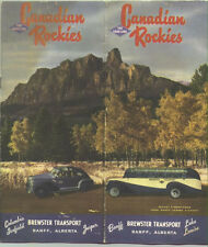 1940s Gray Line Canadian Rockies Travel Brochure /Great Color Cover !