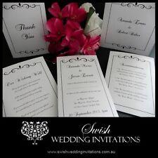 Luxury Swirl Formal Vintage Wedding Engagement Event Invitation - Sample ONLY $1