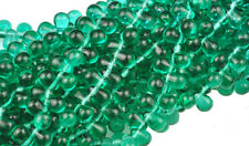 100 Teal Emerald Glass Tear Drop Teardrops Beads 6MM