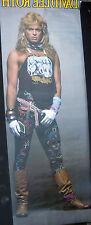 David Lee Roth Van Halen 1986 Vintage Original Big Door Size Music Pin Up Poster