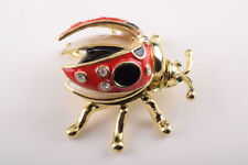 Faberge Beetle trinket box hand made by Keren Kopal with Austrian crystal