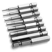 8Pcs H1.5-H8 50mm 1/4'' Shank Hex Magnetic Head Screw Driver Screwdriver Bit Kit