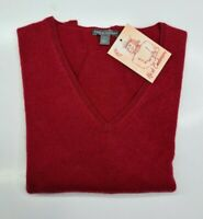 PULL TAILLE L SWEATER FEMME DONNA 100% PUR CASHMERE CACHEMIRE APT.9 ROUGE