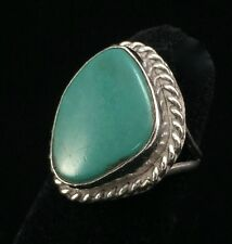 Nice Southwest Native American Turquoise Sterling Ring (Sz 6.75) (A152)