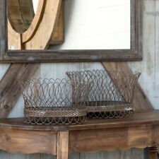 French Wire Basket Set of 2 Baskets