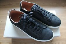 Selected Homme black leather trainers, UK6 / 40, NEW!.