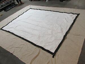 8x6 foot harkness front & rear projection fastfold screen KIT & blue drape kit