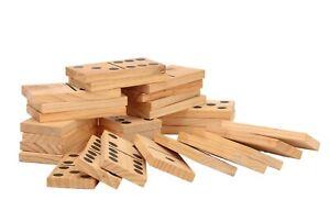 Giant Wooden Outdoor Dominoes Game Set with 28 Pieces 15 x 7 x 1.5cm Jenjo Games