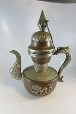 Antique vintage Chinese Asian Tibet Copper Teapot Dragon Handle