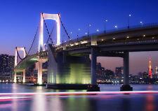 RAINBOW BRIDGE TOKYO NEW A4 POSTER GLOSS PRINT LAMINATED