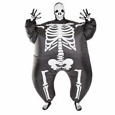 Adult Funny Scary Inflatable Skeleton Fancy Dress Costume Outfit Suit Halloween
