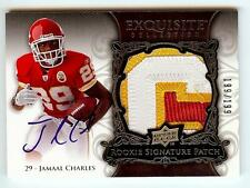 2008 EXQUISITE JAMAAL CHARLES RC AUTO 3 COLOR LETTER PATCH 199/199!! LAST ONE!!
