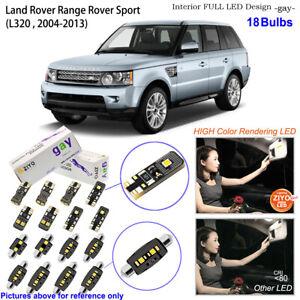 18 Bulbs Deluxe LED Interior Dome Light Kit Xenon White For Range Rover Sport