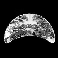Royal Staffordshire Tonquin by Clarice Cliff, Black Bone Dish, English China
