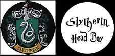 Harry Potter Slytherin Head Boy Novelty Humour Funny 25mm Button Pin Badges x2