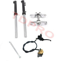 33mm Triple Tree Clamps Front Forks Caliper Master Cylinder Axle Pit Dirt Bike