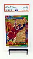 1993 Topps Finest HOF Chicago Bulls MICHAEL JORDAN Basketball Card PSA 8 NM-MT