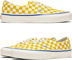 Vans OG Era Lx Men's Size 11 Cvs/Checkerboard Ceylon Yellow Shoes VN0A4BVA022