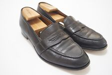 Polo Ralph Lauren Bench Made in Italy Black Leather Penny Loafer Sz 10.5D