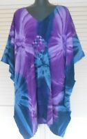 New Cool, Bali Boho Kaftan top Grecian Style plus size fits 24-34 Sunning Happy